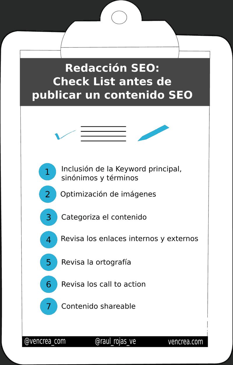 Consejos de redaccion SEO para optimizar contenido infografia